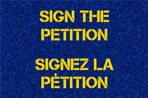 Sign the petition / Signez la pétition